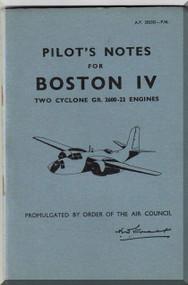 Douglas Boston IV  Aircraft Pilot's Notes  Manual  A.P. 2023D-.PN