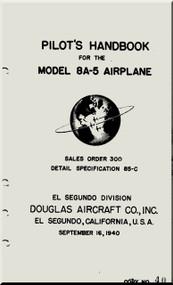 Douglas 8A-5  Aircraft  Pilot's Handbook Manual   , 1940