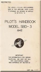 Douglas SBD-3  Aircraft  Pilot's Handbook Manual    , 1942