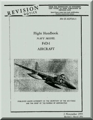 Douglas F4D-1 Aircraft Flight Handbook Manual -01-40FBA-1 - 1955