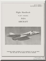 Douglas F1D-1  Aircraft  Flight Handbook Manual   AN 01-40FBA-1 , 1957