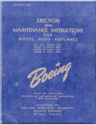 Stearman  Aircraft Erection and Maintenance  Manual  N2S-3  Airplane  Manual   B75N1-9002