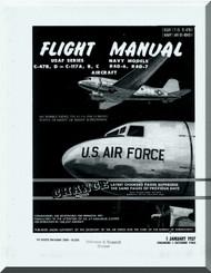 Douglas C-47 B C-117 A, B, C   Aircraft Flight   Manual  T.O 1C-47B-1, 1957