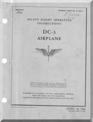Douglas DC-3  Aircraft Flight Operating Instructions   Manual  , 1942, T.O . 01-40NL-1