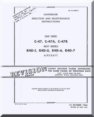 Douglas C-47 A, B R4D-1 , -5, -6, -7   Aircraft Handbook Erection and Maintenance Instructions  Manual  AN. 01-40NC-2 ,  1944