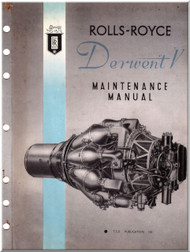"Rolls Royce "" Derwent V ""  Aircraft Engine Maintenance Manual T.S.D. publication 122"
