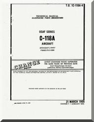 Douglas C-118 A Aircraft Parts Manual - 1C-118A-4 -1966