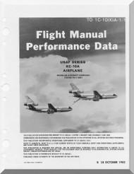 Douglas KC-10A   Aircraft    Flight  Manua Perfomance data l - T.O. 1C-10(K)A-1 -1982