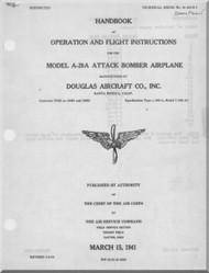 Douglas A-20 A Aircraft Operation amd Flight Instructions Manual - 01-40AB-1