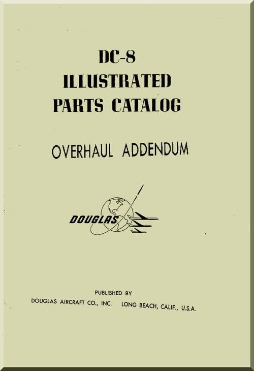 Aircraft Manuals Douglas DC-8 Illustrated Parts Catalog
