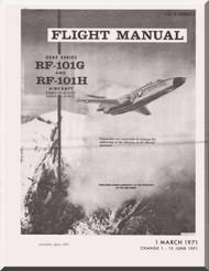 Mc Donnell Douglas F-101 G and F-101H   Aircraft  Flight Manual   T.O. 1F-101(R)G-1 , 1971