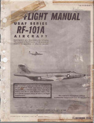 Mc Donnell Douglas R F-101A  Aircraft  Flight Manual   T.O. 1F-101(R)A-1 , 1958