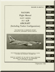 Mc Donnell Douglas A-3 A / B Aircraft Flight  Manual NAVWEPS 01-40ATA-1 ,  1966