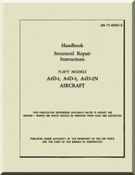 Mc Donnell Douglas A4D-1, -2, -2N Aircraft Handbook Structural Repair Instructions  Manual AN 01-40AV-3 ,