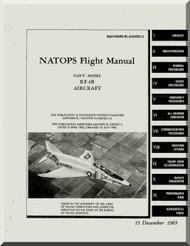 Mc Donnell Douglas RF-4B   Aircraft  Flight  Manual   NAVWEPS 01-24-5FDC-1 , 1965