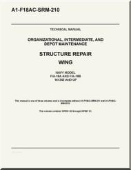 Mc Donnell Douglas F / A -18 A / B Aircraft Structural Repair Wing Manual A1-F18AC-SRM-210