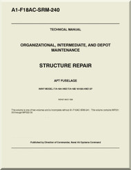 Mc Donnell Douglas F / A -18 A / B /  Aircraft  Structural Repair AFT Fuselage Manual A1-F18AC-SRM-240
