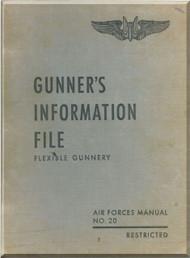 Gunners  Information File Manual Aircraft B-17 B-24 B-25 B-29
