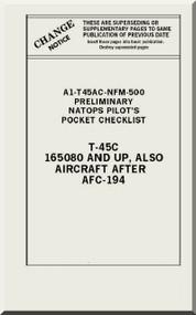 Mc Donnell Douglas T-45 C  Aircraft  Checklist  Manual   AN A1-T45AC-NFM-500 , 1997