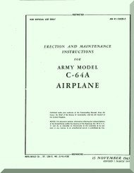 Nooduyn Norseman C-64 A Aircraft  Erection and Maintenance Manual AN  0155CB-2, 1943