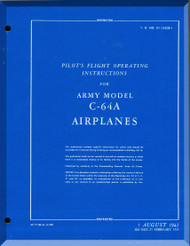 Nooduyn Norseman C-64 A Aircraft  Pilot's Flight Operating Instructions  Manual AN  0155CB-1, 1945
