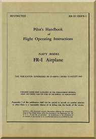 Ryan FR-1 Airplane Pilot's Handbook of Flight Operating Instructions Manual -  AN 01-100FA-1, 1945