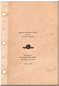 Ryan ST A   Airplane Operation and Service Manual - 1940
