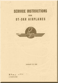 Ryan ST-3KR   Airplane Service Instruction Manual