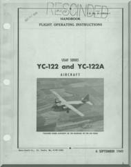 Chanche YC-122 and YC-122 A Handbook  Flight Operating Instruction  Manual 01-120CAA-1 - 1949