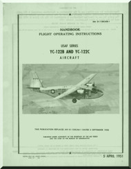 Chanche YC-122 and YC-122 A Handbook  Flight Operating Instruction  Manual 01-120CAB-1 - 1951