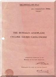 Brewster Buffalo Pilot's Notes - - A.P. 1806A,  - Vol. 1 - 1938