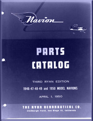 Ryan Navion  Airplane Illustrated Parts Catalog  Manual - 1947