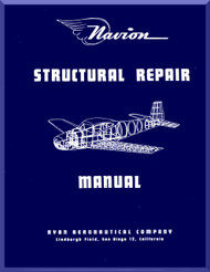 Ryan Navion  Airplane Structural Repair Manual - 1947