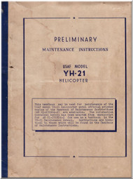 Piasecki YH-21  Helicopter  Preliminary Maintenance Instructions  Manual - , 1953