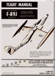 Northrop F-89 J  Aircraft Flight Manual  A.N 1F-89J-1 , 1961