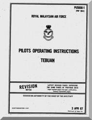 Canadair Cl-41  Aircraft Operating Instruction  Manual