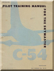 Douglas C-54  Aircraft  Pilot Training Manual