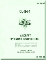 Canadair CL-84  Aircraft Operating Instruction  Manual