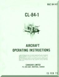 Canadair CL-84  Aircraft Operating Instruction  Manual