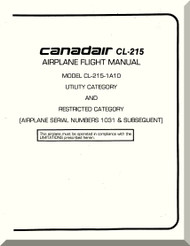 Canadair CL-215  Aircraft Flight Operating  Manual