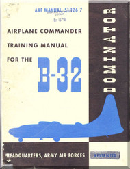 Consolidated B-32 Aircraft  Pilot Training Manual