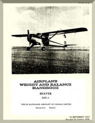 De Havilland DHC-2 Beaver Aircraft Weight and Balance Handbook Manual