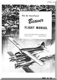 De Havilland DHC-2 Beaver Aircraft Flight Manual -  PSM -1-2-1 - 1956