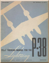 Lockheed P-38  Aircraft  Pilot Training Manual