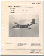 De Havilland C-7 A Caribou Aircraft Flight Manual - 1C-7A-1 -1970