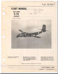 De Havilland C-7 A Caribou Aircraft Flight Manual - 1C-7A-1 -1970