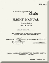 De Havilland DHC-4 Caribou Aircraft Flight  Manual - PSM 1-4-1-1A -1971