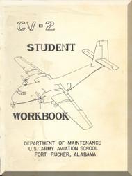 De Havilland CV-2B Caribou Aircraft Student Workbook  Manual