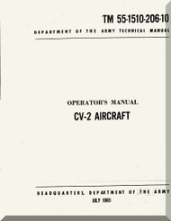 De Havilland CV-2 Caribou Aircraft Operator's Manual 55-1510-206-10