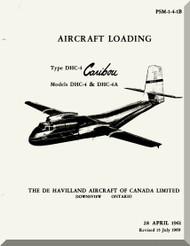 De Havilland DHC-4 Caribou Aircraft Loading Manual - PSM 1-4-1B - 1961